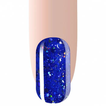 Gellac Blue Glitter UV/LED