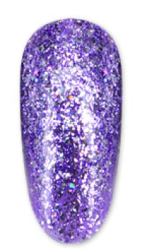 Gellack Platinum Purple Glitter UV/LED