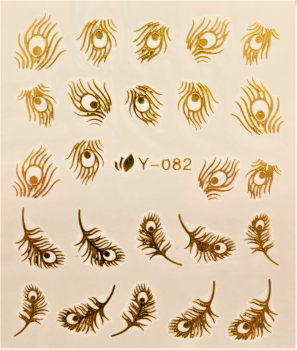 Nail Art Sticker Wassertransfer Gold 082