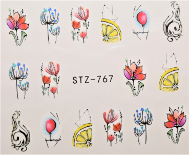 Nail Art Sticker Wassertransfer 767