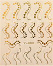 Nail Art Sticker Wassertransfer Gold 009